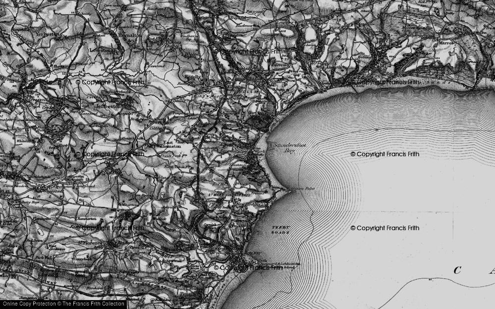 Old Map of Saundersfoot, 1898 in 1898