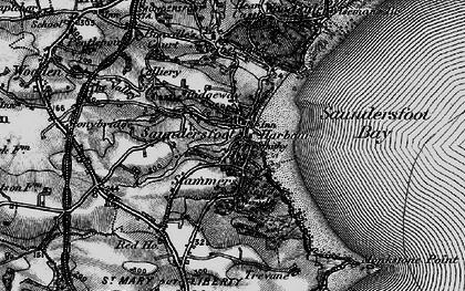 Old map of Saundersfoot in 1898