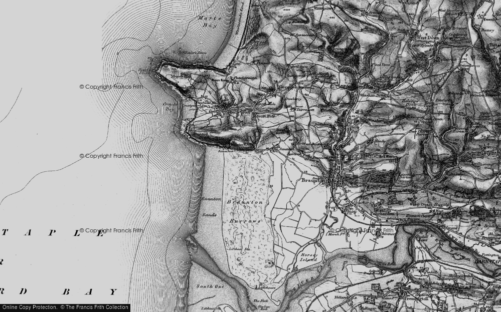 Old Map of Saunton, 1897 in 1897