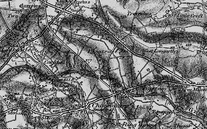 Old map of Saveock in 1895