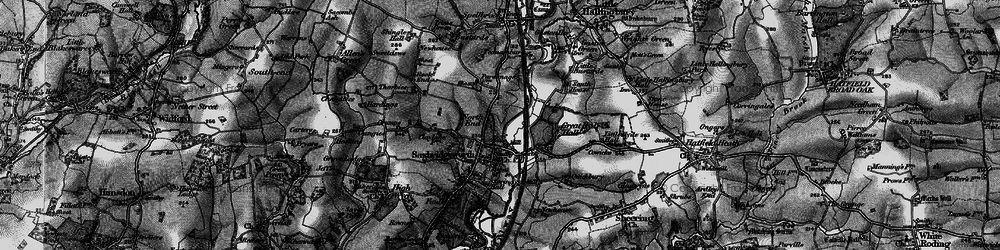 Old map of Sawbridgeworth in 1896