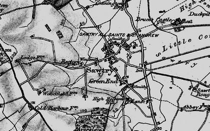 Old map of Sawtry in 1898