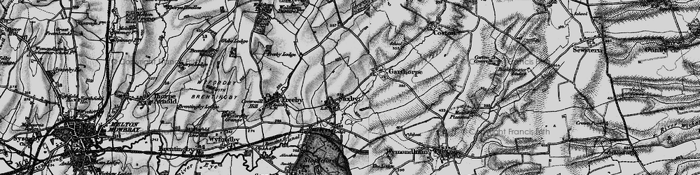 Old map of Saxby in 1899