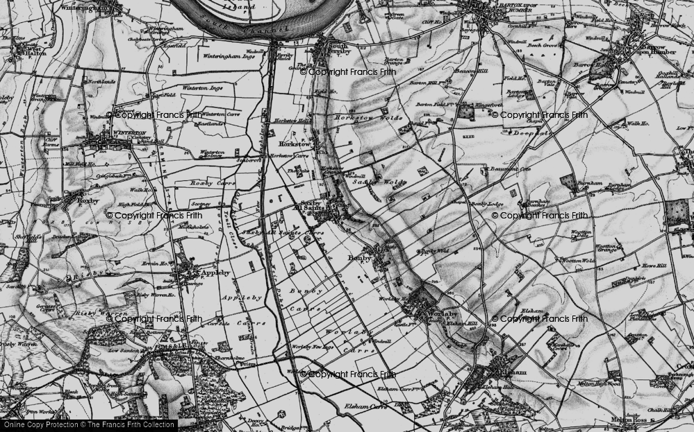 Old Map of Saxby All Saints, 1895 in 1895