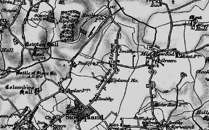 Old map of Lapwings in 1898