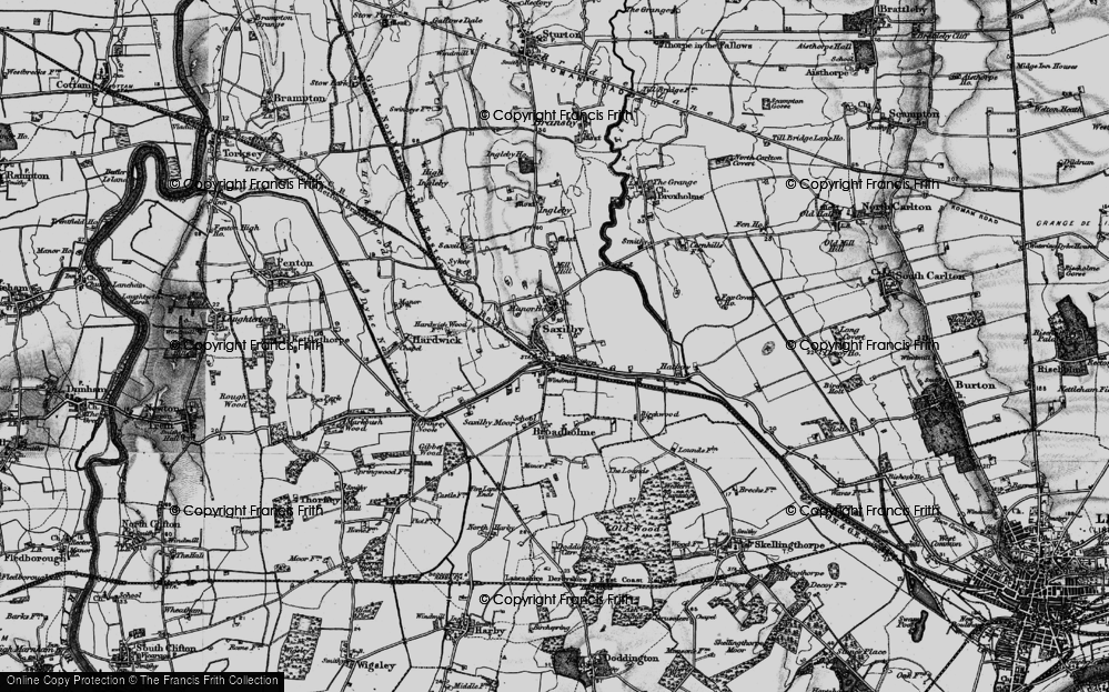 Old Map of Saxilby, 1899 in 1899