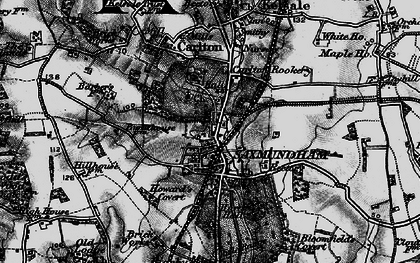 Old map of Saxmundham in 1898