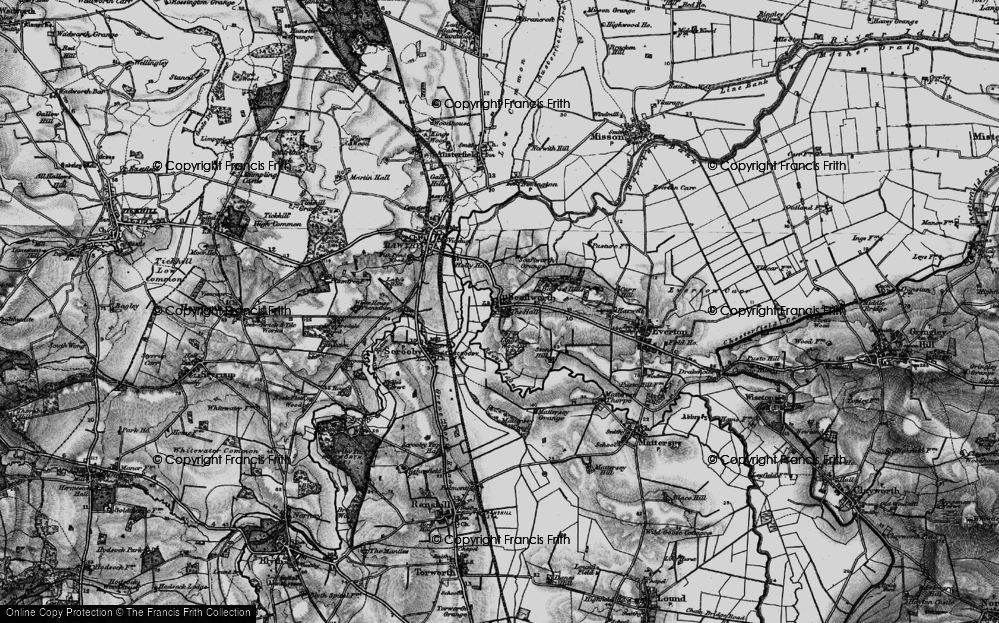 Old Map of Historic Map covering Ling's Wood in 1895