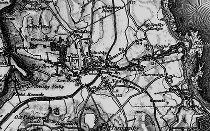Old map of Scalby in 1897