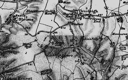 Old map of Wigney Wood in 1898