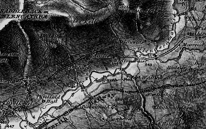 Old map of Bannerdale Crags in 1897