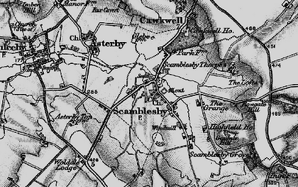 Old map of Woldale Lodge in 1899