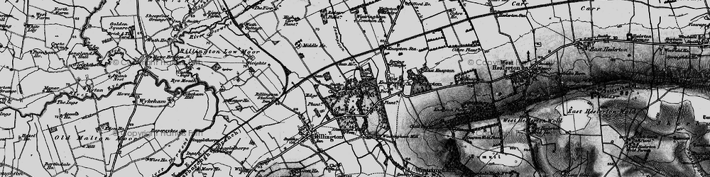 Old map of Scampston in 1898