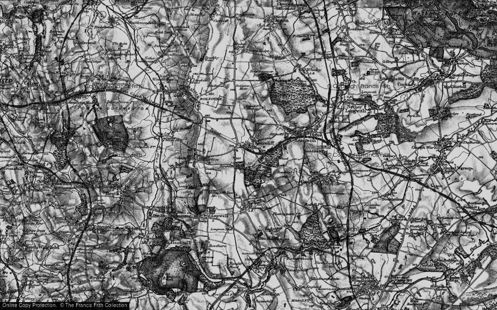Old Map of Historic Map covering Langwith Wood in 1896
