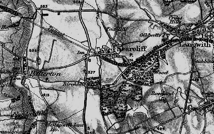 Old map of Langwith Wood in 1896