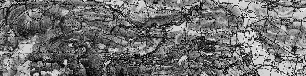 Old map of Thwaite Beck in 1897