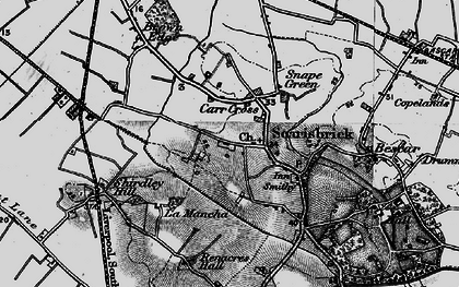 Old map of Scarisbrick in 1896