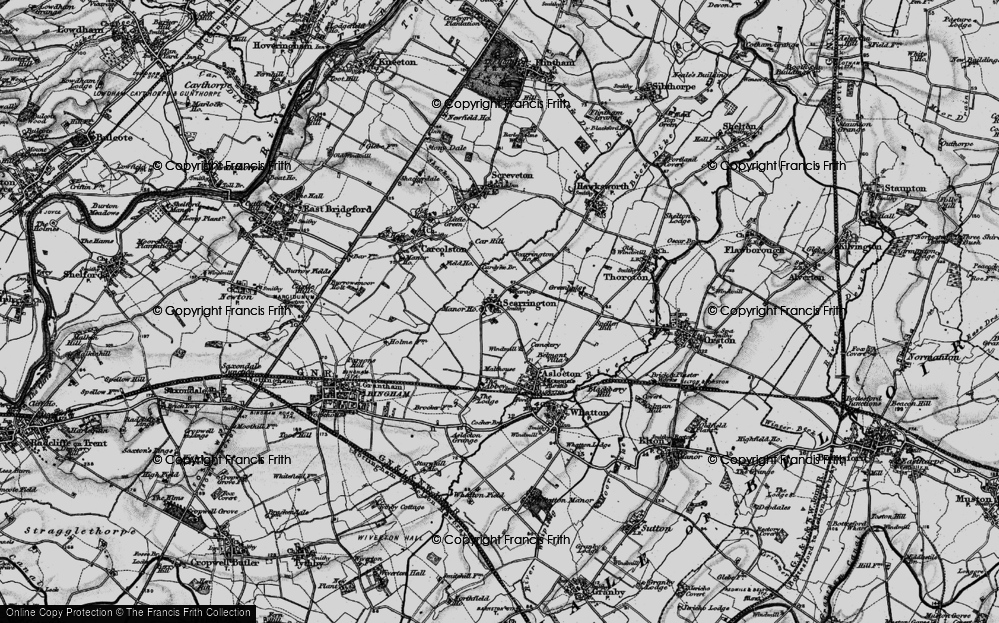Old Map of Scarrington, 1899 in 1899