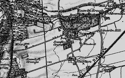 Old map of Scawby in 1898