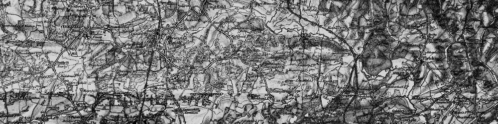 Old map of Abbots Leigh in 1895