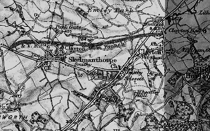 Old map of Bagden Hall in 1896