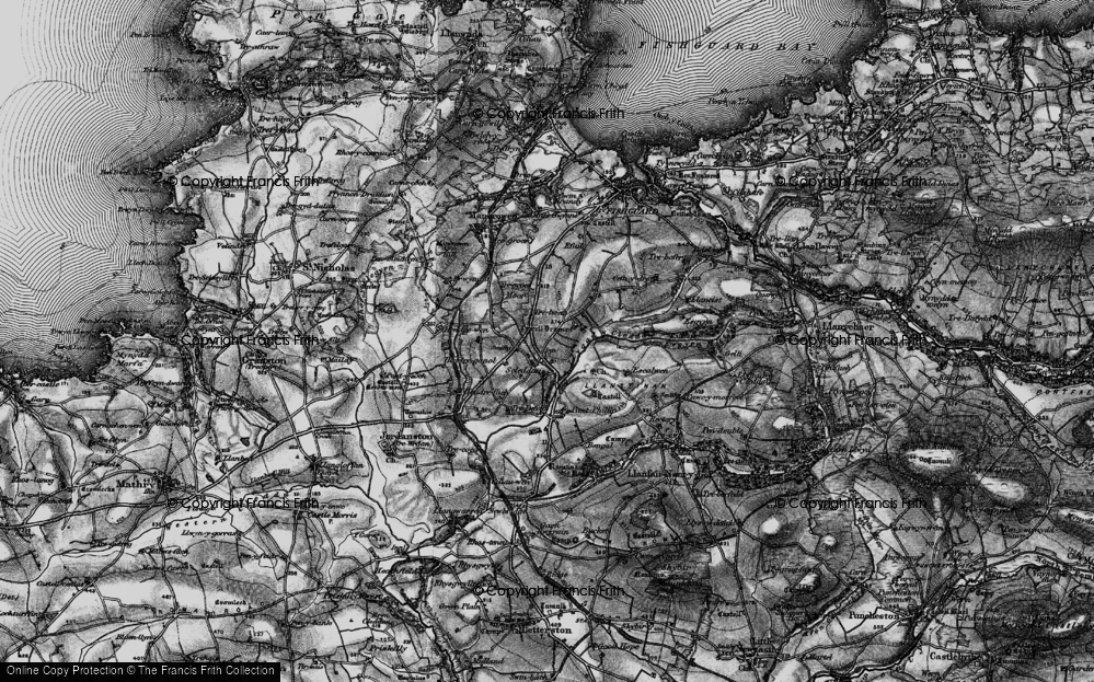 Old Map of Historic Map covering Langton in 1898