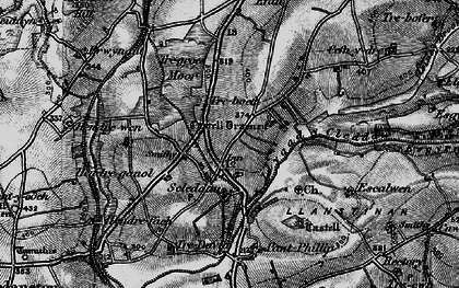 Old map of Langton in 1898