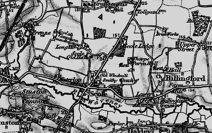 Old map of Scole in 1898