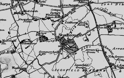 Old map of Lickham Hall in 1898