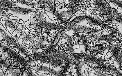 Old map of Scorrier in 1895