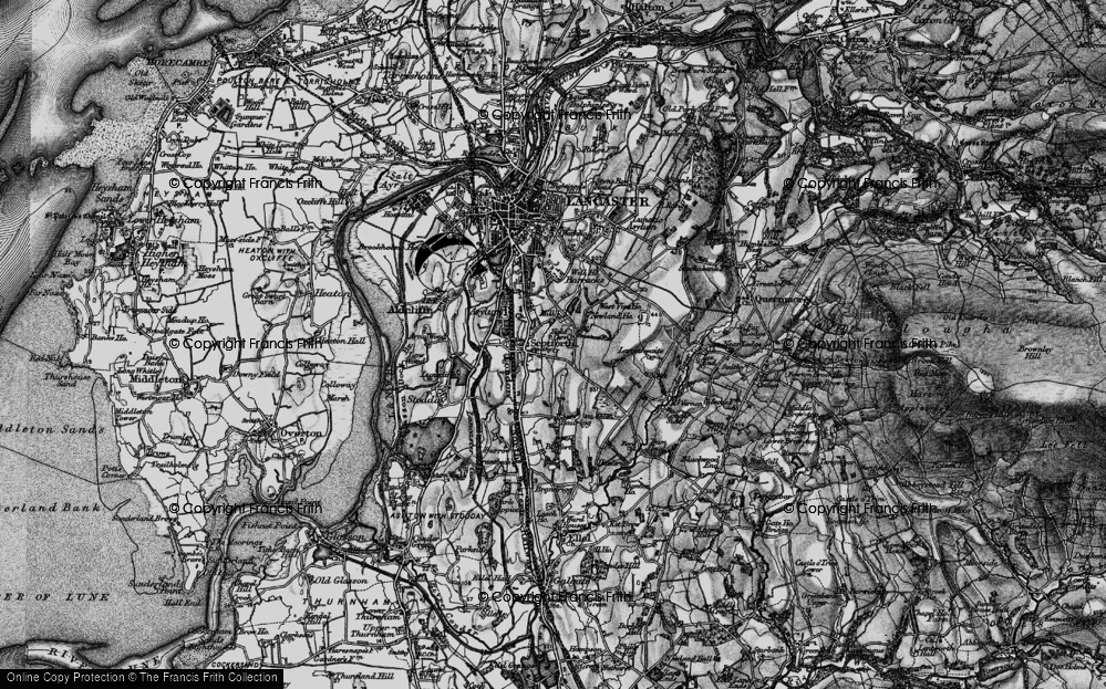 Old Map of Historic Map covering Langthwaite in 1898