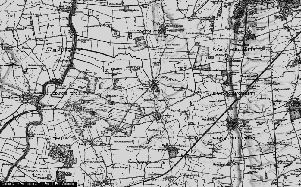 Old Map of Scotter, 1895 in 1895