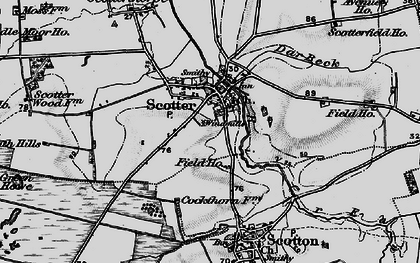 Old map of Scotter in 1895