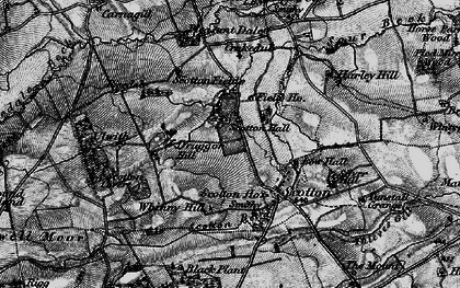 Old map of Whinny Hill in 1897