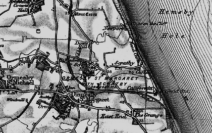 Old map of Scratby in 1898