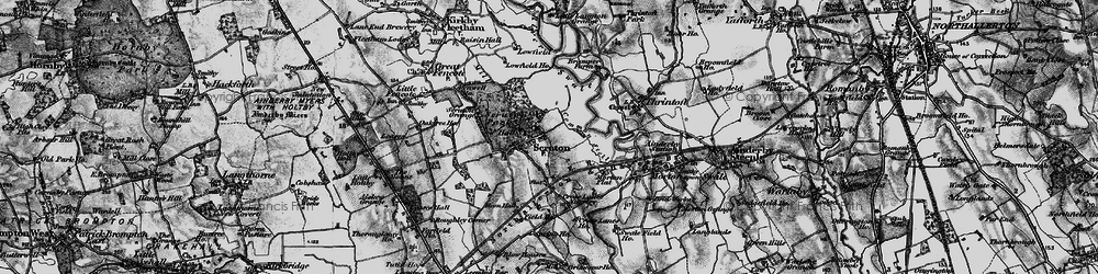 Old map of Scruton in 1897