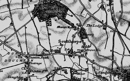 Old map of Sculthorpe in 1898