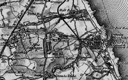Old map of Seaham in 1898