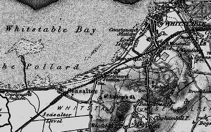 Old map of Whitstable Bay in 1895