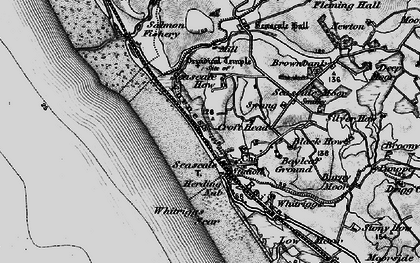 Old map of Whitriggs in 1897