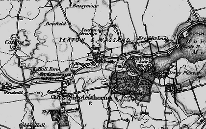 Old map of Seaton in 1897