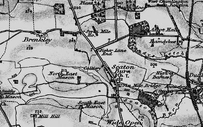 Old map of Seaton Burn in 1897