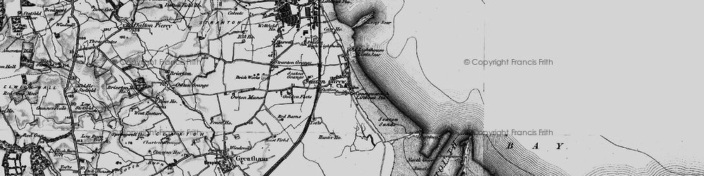 Old map of Seaton Carew in 1898
