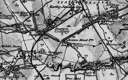 Old map of Seaton Delaval in 1897