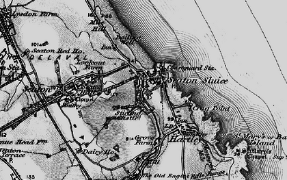 Old map of Seaton Sluice in 1897