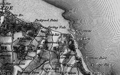 Old map of Seaview in 1895