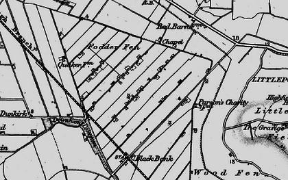 Old map of Westmoor Fen in 1898