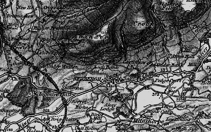Old map of Sedbergh in 1897