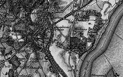Old map of Badams Court in 1897