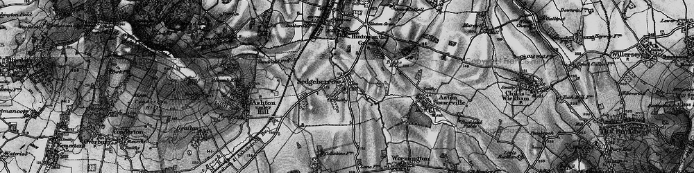 Old map of Sedgeberrow in 1898